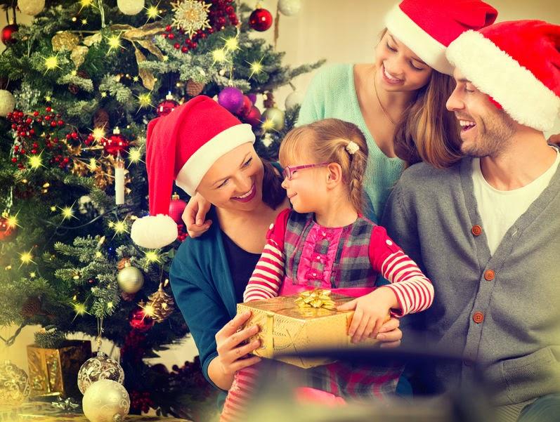 Rodzina w święta Bożego Narodzenia