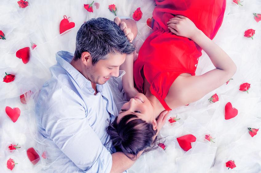 Para w hotelu w Walentynki